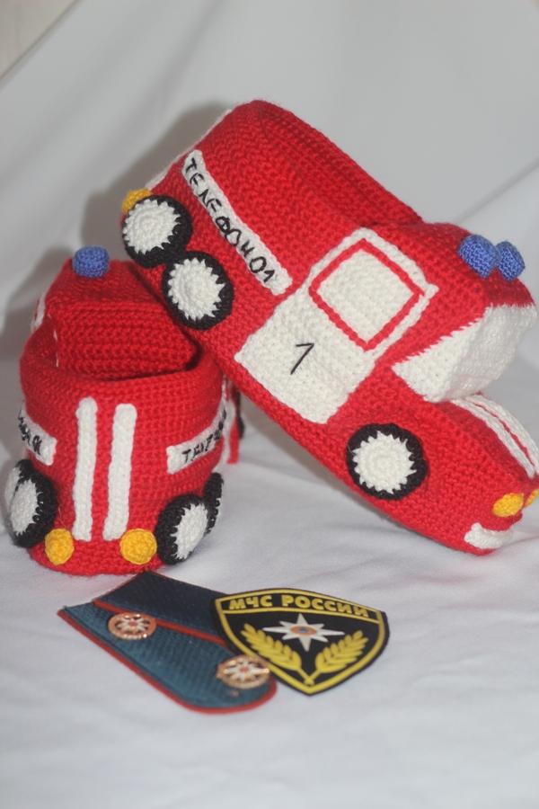 тапки Пожарные машины
