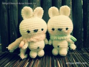 Вязаные кролики амигуруми